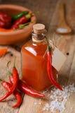 Σάλτσα Tabasco στο μπουκάλι Στοκ Φωτογραφία