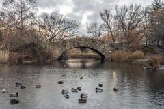 Σέντραλ Παρκ γεφυρών Gapstow, πόλη της Νέας Υόρκης Στοκ φωτογραφίες με δικαίωμα ελεύθερης χρήσης
