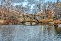 Σέντραλ Παρκ γεφυρών Gapstow, πόλη της Νέας Υόρκης Στοκ Φωτογραφία