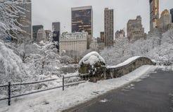 Σέντραλ Παρκ γεφυρών Gapstow, πόλη της Νέας Υόρκης Στοκ εικόνες με δικαίωμα ελεύθερης χρήσης