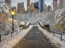 Σέντραλ Παρκ γεφυρών Gapstow, πόλη της Νέας Υόρκης Στοκ εικόνα με δικαίωμα ελεύθερης χρήσης