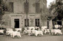 σέπια εστιατορίων στοκ φωτογραφία