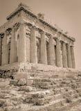 Σέπια Parthenon στοκ εικόνες