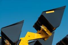 Σέσουλα κατασκευής κινηματογραφήσεων σε πρώτο πλάνο ενάντια στον ουρανό Στοκ εικόνες με δικαίωμα ελεύθερης χρήσης