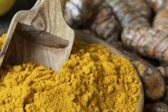 Σέσουλα Turmeric στη σκόνη στοκ φωτογραφία με δικαίωμα ελεύθερης χρήσης