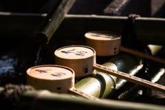 Σέσουλα μπαμπού για τα νερά πηγής Στοκ εικόνες με δικαίωμα ελεύθερης χρήσης