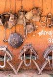 Σέλες και εργαλείο αλόγων στοκ εικόνα