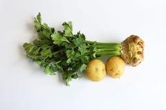 Σέλινο και δύο πατάτες Στοκ φωτογραφία με δικαίωμα ελεύθερης χρήσης