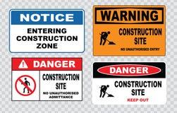Σήμανση ασφάλειας περιοχών ή ασφάλεια κατασκευής Στοκ εικόνες με δικαίωμα ελεύθερης χρήσης
