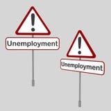 Σήμα ανεργίας Στοκ Εικόνα