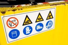 σήμα ασφάλειας Στοκ εικόνες με δικαίωμα ελεύθερης χρήσης