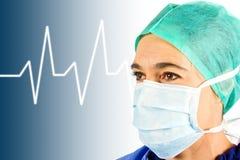 σήμα γιατρών ecg Στοκ φωτογραφίες με δικαίωμα ελεύθερης χρήσης