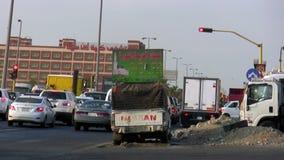 Σήμα κυκλοφορίας στην πόλη Jeddah από την απόσταση απόθεμα βίντεο