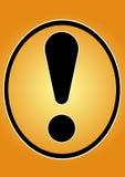 σήμα προσοχής Στοκ εικόνα με δικαίωμα ελεύθερης χρήσης