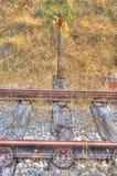σήμα σιδηροδρόμων Στοκ φωτογραφία με δικαίωμα ελεύθερης χρήσης