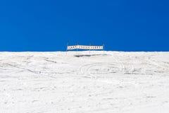 Σήμα στην κλίση σκι Στοκ Φωτογραφίες