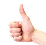 σήμα χεριών στοκ εικόνες
