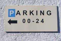 Σήμα χώρων στάθμευσης στοκ φωτογραφία με δικαίωμα ελεύθερης χρήσης