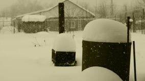 Σήμερα πήγε απροσδόκητα χιονοπτώσεις απόθεμα βίντεο