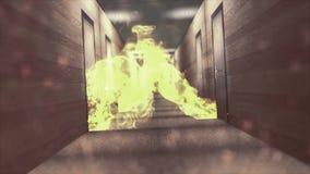 Σήραγγα έκρηξης καπνού πυρκαγιάς τρυπών απεικόνιση αποθεμάτων