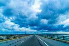 Σήραγγα ή Lucius J γεφυρών κόλπων Chesapeake Γέφυρα-σήραγγα Jr Kellam, Βιρτζίνια Στοκ φωτογραφία με δικαίωμα ελεύθερης χρήσης