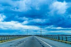 Σήραγγα ή Lucius J γεφυρών κόλπων Chesapeake Γέφυρα-σήραγγα Jr Kellam, Βιρτζίνια Στοκ φωτογραφίες με δικαίωμα ελεύθερης χρήσης