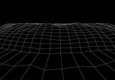 Σήραγγα ή wormhole Ψηφιακή τρισδιάστατη σήραγγα wireframe τρισδιάστατο πλέγμα σηράγγων Τεχνολογία δικτύων cyber Σουρεαλησμός Αφηρ διανυσματική απεικόνιση