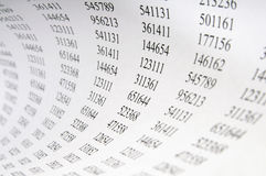σήραγγα αριθμών Στοκ φωτογραφία με δικαίωμα ελεύθερης χρήσης