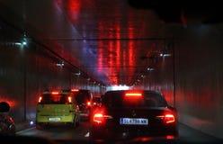 Σήραγγα αυτοκινήτων Στοκ εικόνες με δικαίωμα ελεύθερης χρήσης