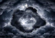 Σήραγγα στα σύννεφα Στοκ εικόνα με δικαίωμα ελεύθερης χρήσης