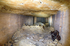 Σήραγγα στο ορυχείο λατομείων πετρών Στοκ Εικόνα