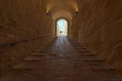 Σήραγγα στο οχυρό Άγιος Angelo Στοκ φωτογραφία με δικαίωμα ελεύθερης χρήσης