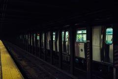 Σήραγγα NYC υπογείων Στοκ Εικόνες