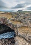 Σήραγγες λάβας Surtshellir, Ισλανδία στοκ εικόνα με δικαίωμα ελεύθερης χρήσης