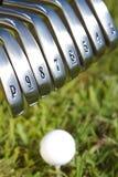 σίδηροι γκολφ Στοκ Φωτογραφία