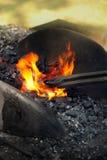 σίδηρος θέρμανσης σιδηρ&omicron Στοκ εικόνες με δικαίωμα ελεύθερης χρήσης