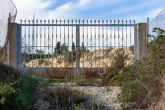 σίδηρος πυλών παλαιός στοκ φωτογραφίες