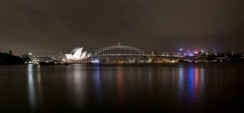 Σίδνεϊ στη νύχτα Στοκ Εικόνες