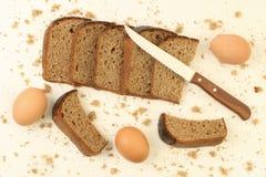 σίκαλη καφετιών αυγών ψωμ&iot Στοκ Εικόνες