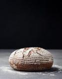 Σίκαλη, ολόκληρο ψωμί σιταριού σε ένα γκρίζο υπόβαθρο πετρών στοκ εικόνες με δικαίωμα ελεύθερης χρήσης