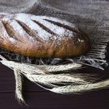 Σίκαλη συγκομιδών και ψημένο υγιές ψωμί Στοκ Εικόνες
