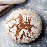 Σίκαλη ψωμιού, ολόκληρο υπόβαθρο πλακών σιταριού Τοπ όψη στοκ φωτογραφία με δικαίωμα ελεύθερης χρήσης