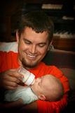 σίτιση μπαμπάδων μωρών Στοκ εικόνα με δικαίωμα ελεύθερης χρήσης