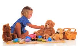 σίτιση teddy Στοκ Εικόνες