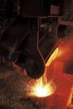 Σίδηρος και χάλυβας, πλήρες δοχείο Cevhaer Στοκ Εικόνα