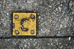 Σίδηρος με τα ίχνη σκουριάς Στοκ Φωτογραφίες