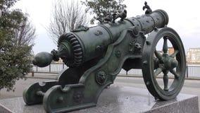σίδηρος πυροβόλων παλαιό απόθεμα βίντεο