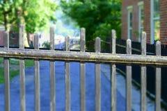 σίδηρος φραγών επεξεργα&si Στοκ Φωτογραφίες