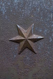 Σίδηρος χυτός hexagram αρχιτεκτονικό διακοσμη& Στοκ εικόνα με δικαίωμα ελεύθερης χρήσης