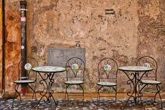 Σίδηρος talbes και καρέκλες Στοκ Φωτογραφίες